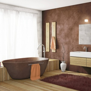 Koupelna Vana Beton Hneda Svetla
