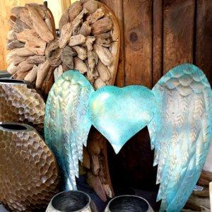 Andělská křídla kov 40 x 41 cm