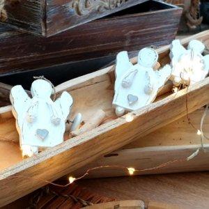 Girlanda andílci 90 cm, Dřevěná miska 70 x 12 x 7 cm