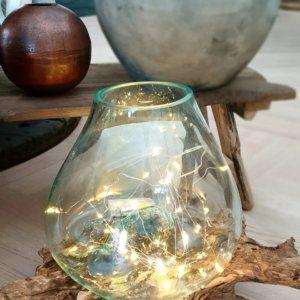 Dekorace dřevo/sklo
